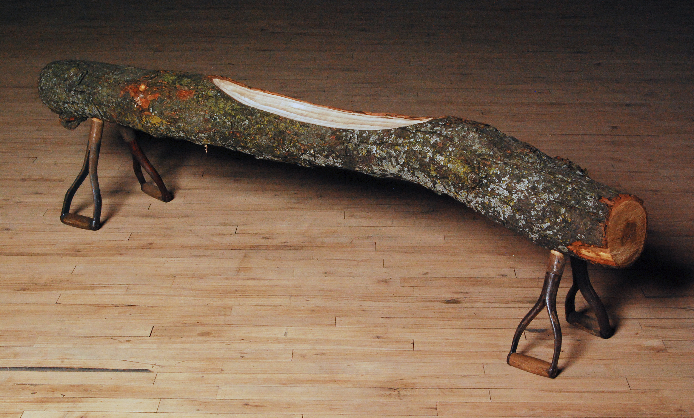 How to Handle Another Log  |  2010  |  wood, shovel handles  |  15 x 73 x 13