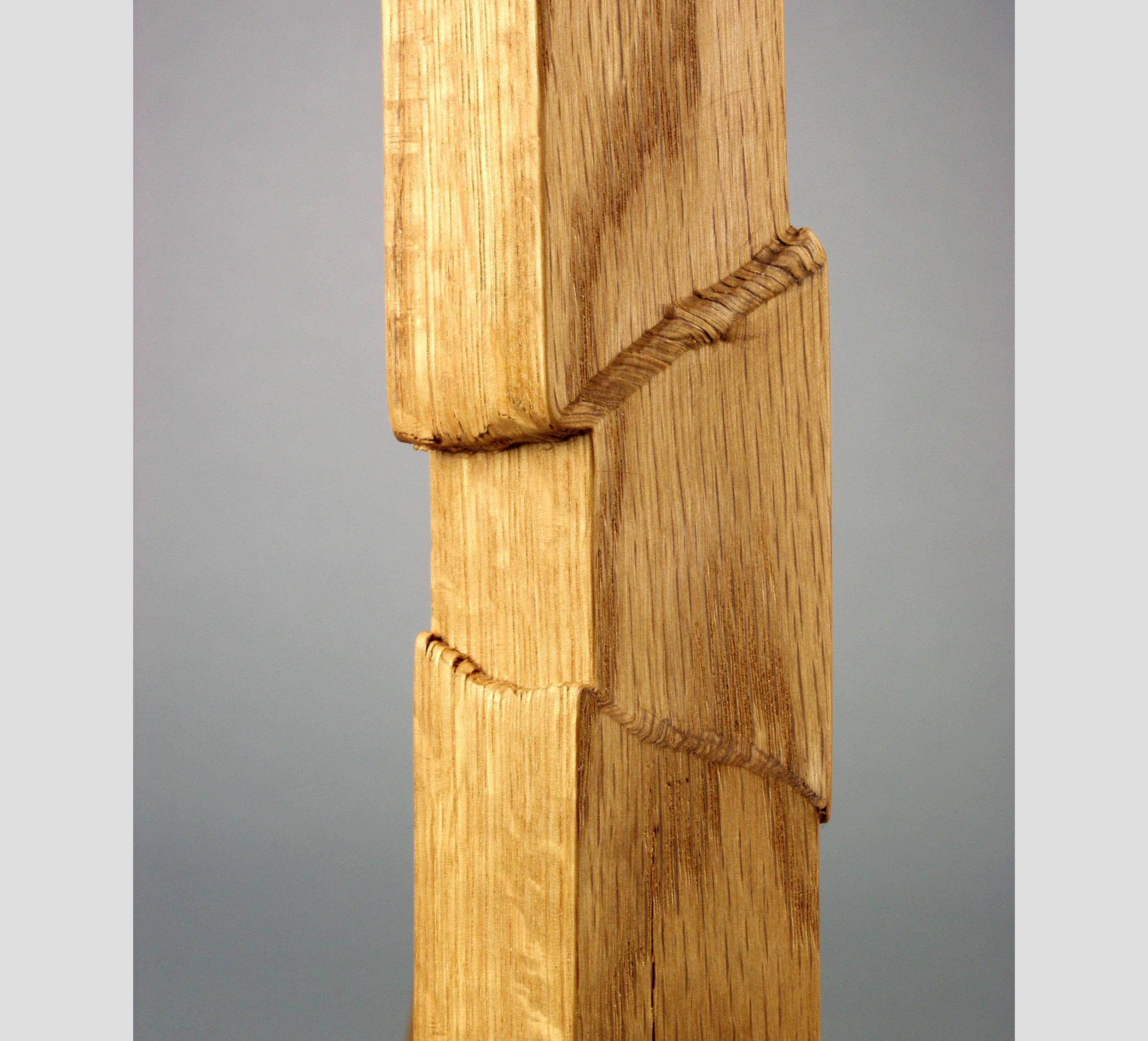 Heavy I 2004 I pressure fractured oak, paint I 25 x 12 x 14