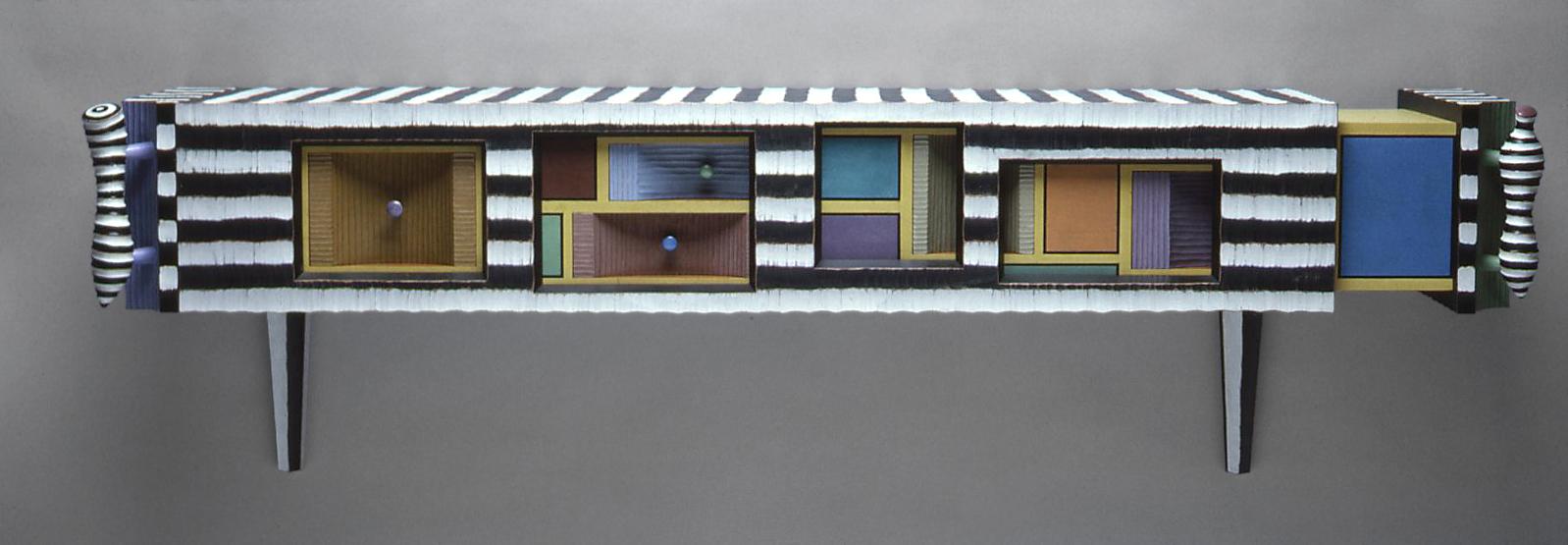 Vernier Cabinet | 1992 | wood, paint |