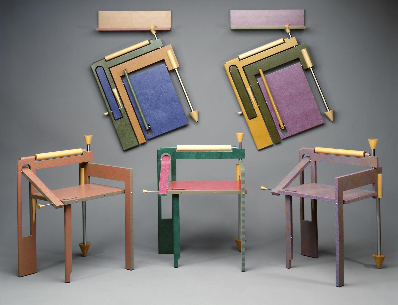 Folding Chairs | 1987-89 I wood, steel, paint I 34 x 25 x 22