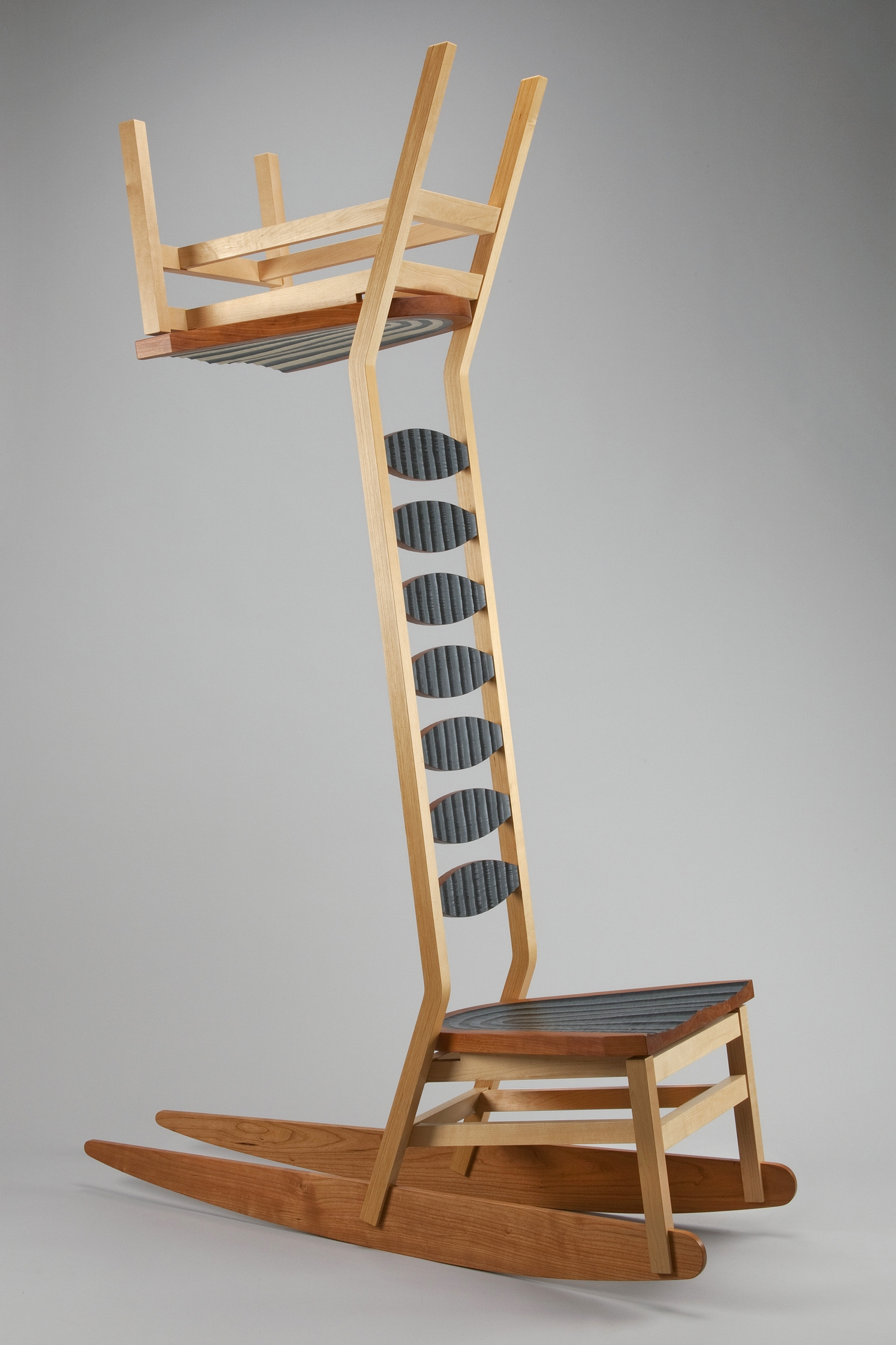 LadderbackkcabreddaL #2  |  2005  |  wood, paint  |  87 x 41 x 21