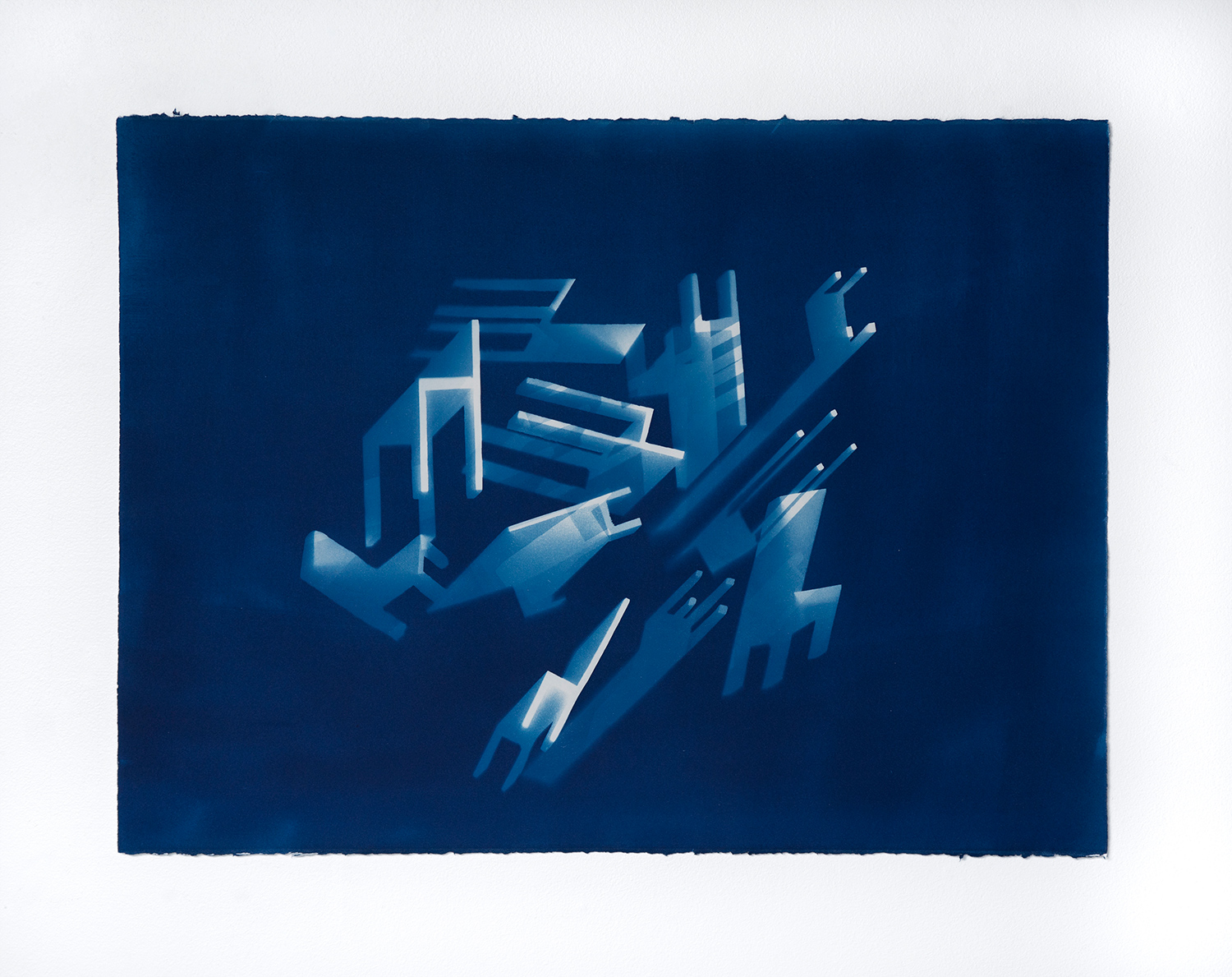 Free Fall #1  I  2014  I  cyanotype print on paper  I  30 x 22