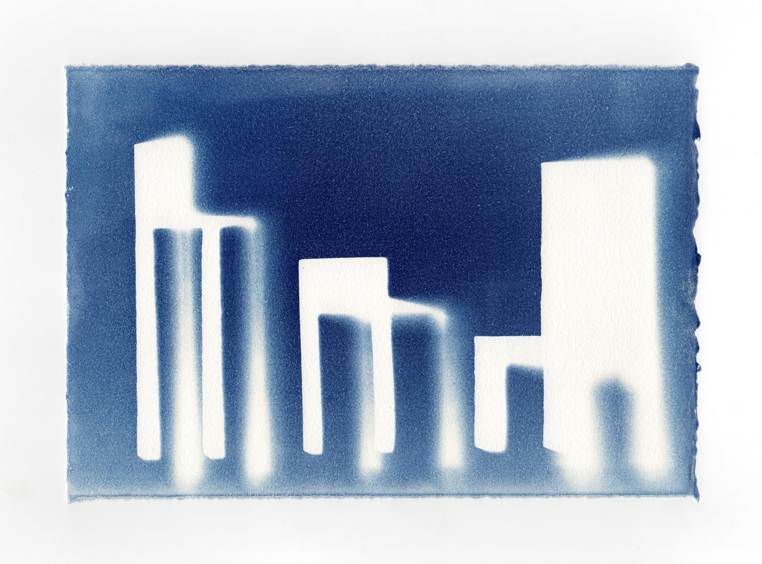 S/M/L I 2014 I cyanotype print on paper I 10.75 x 7.4