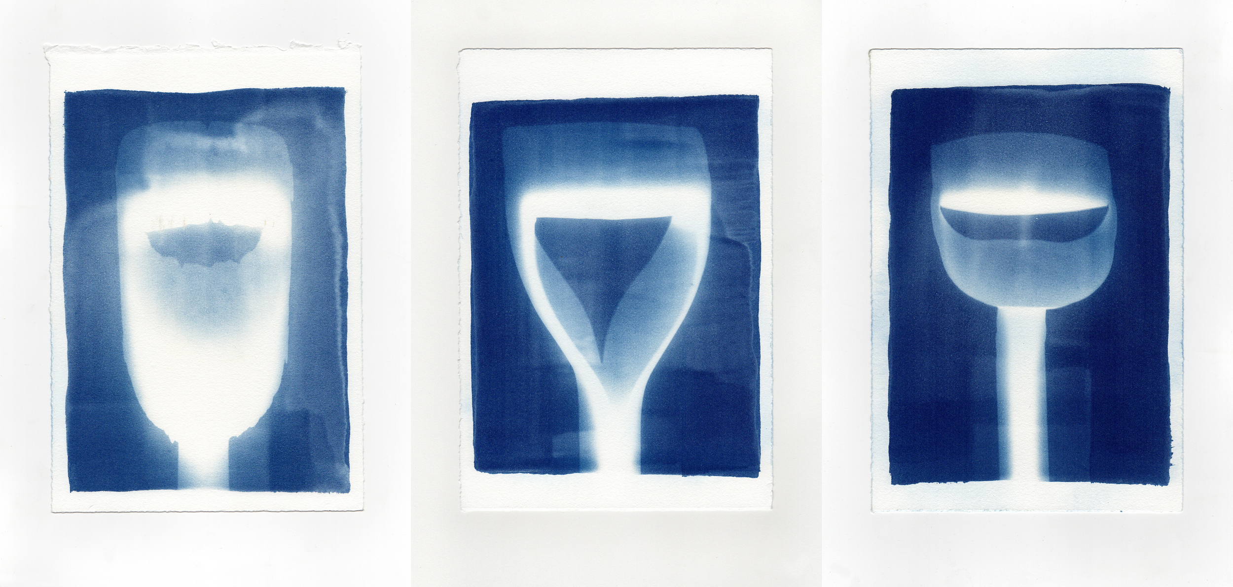3D(s)  I  2014  I  cyanotype print on paper  I  7.5 x 11 each