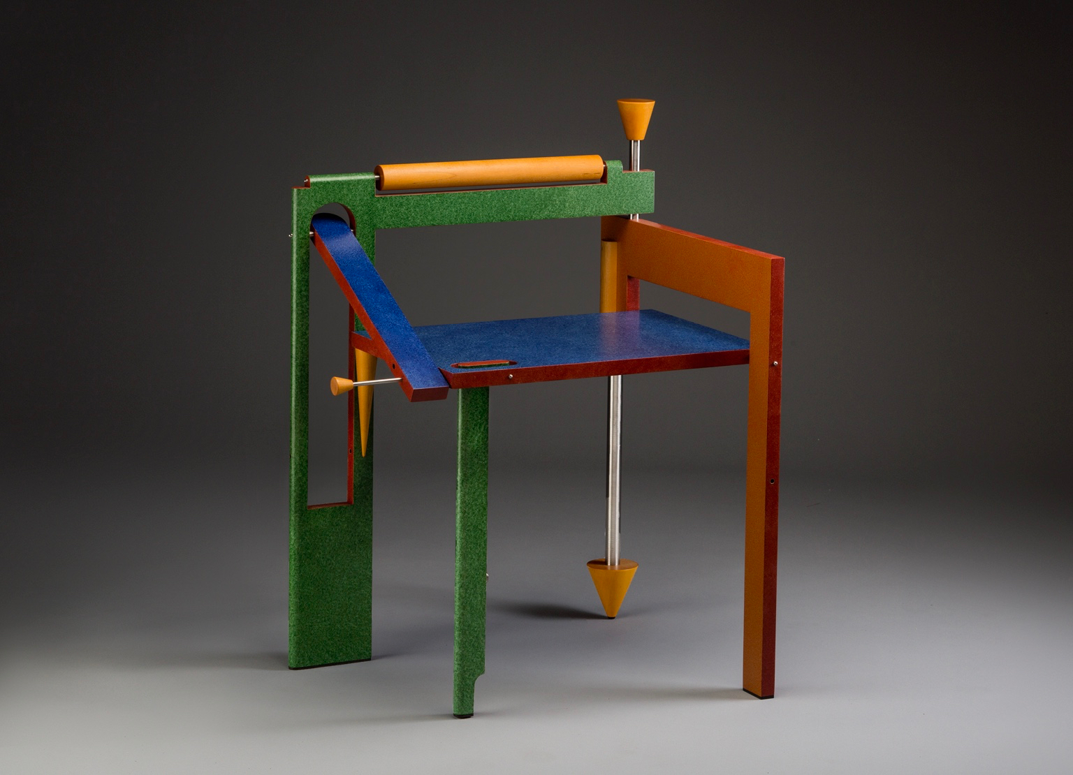 Folding Chair | 1989 I wood, stainless steel, paint I 34 x 25 x 22