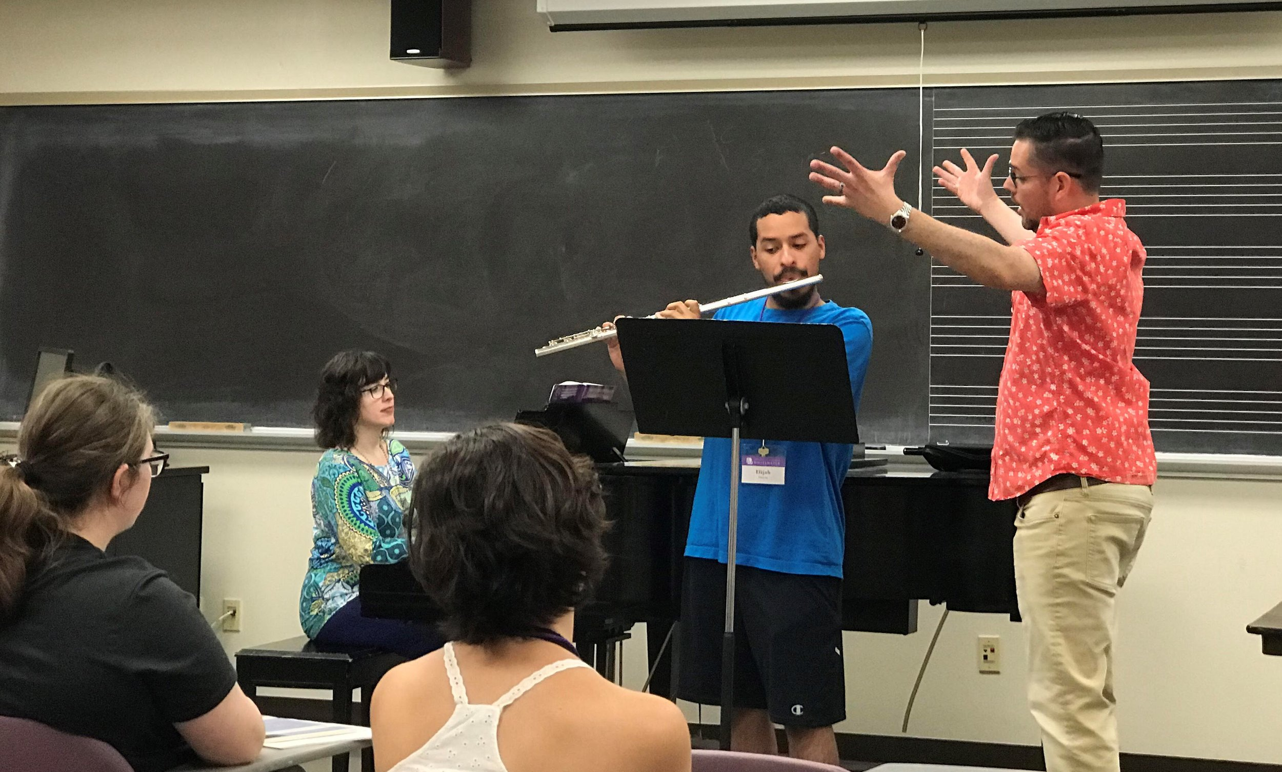Masterclass at the 2019 University of Wisconsin-Whitewater Flute Camp