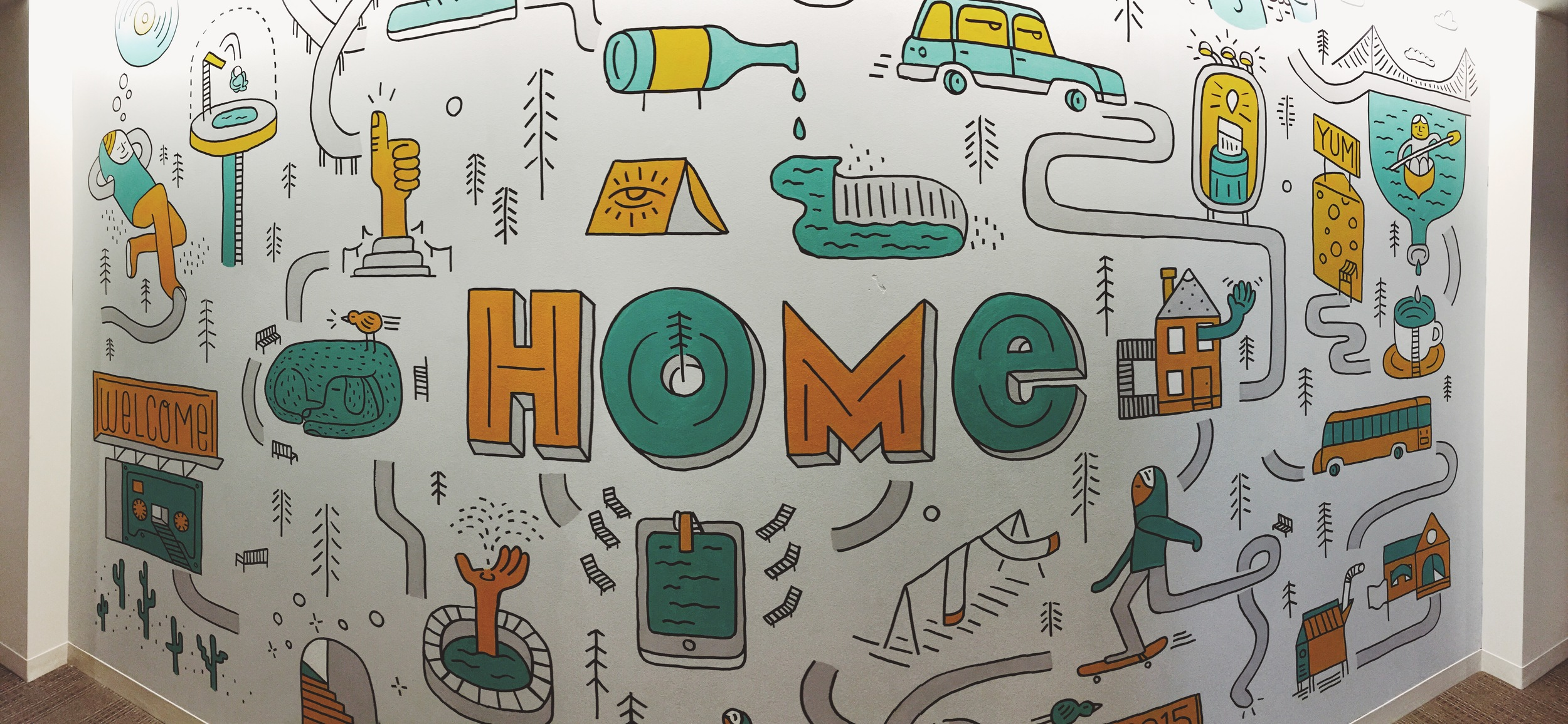 Home Mural for Mr. Cooper Mortgage by Kyle Steed