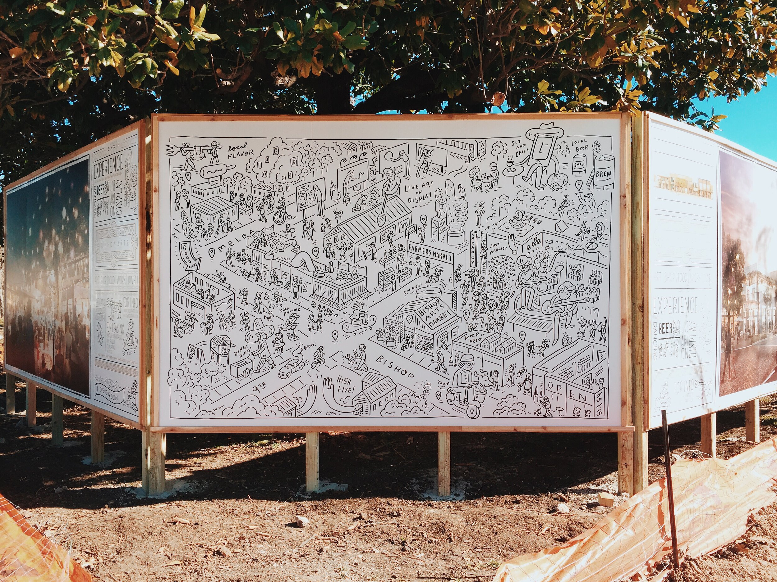 Bishop Arts Illustrated Map by Kyle Steed