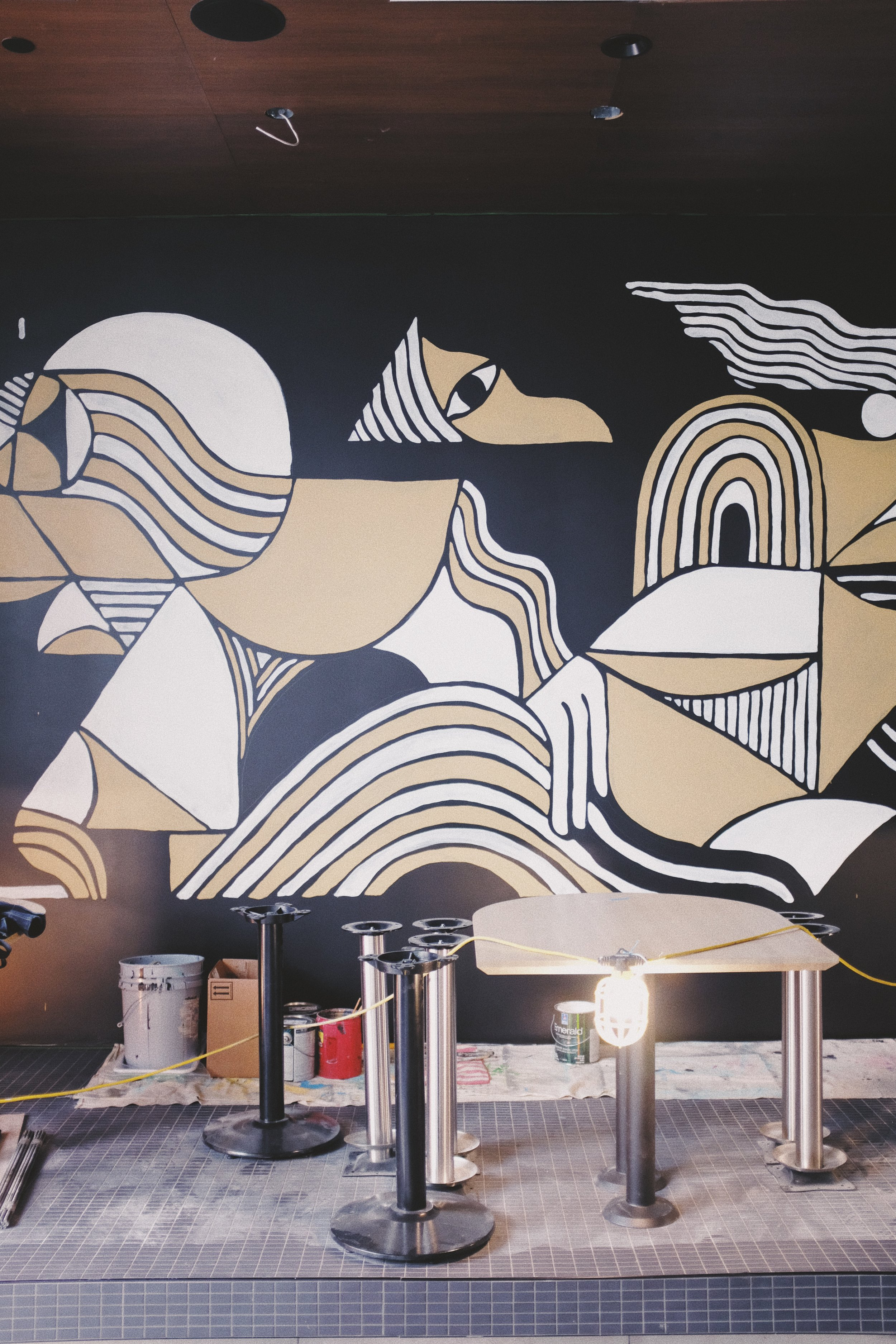 Earls Restaurant Mural Detail by Kyle Steed