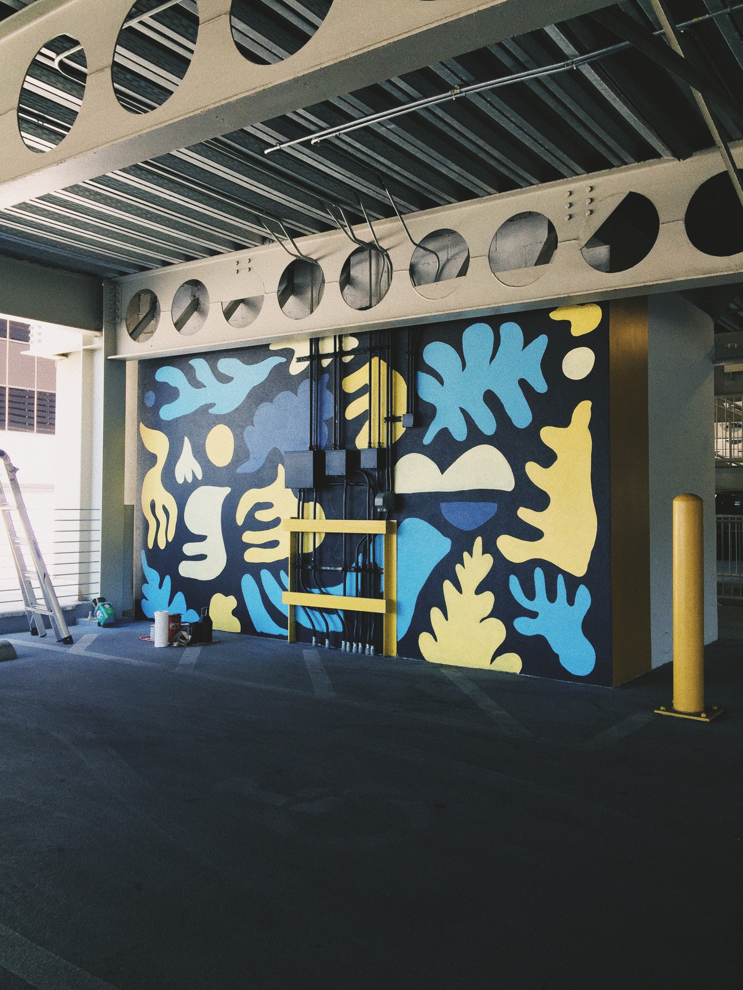 Parking Garage Mural at Westbend FW by Kyle Steed