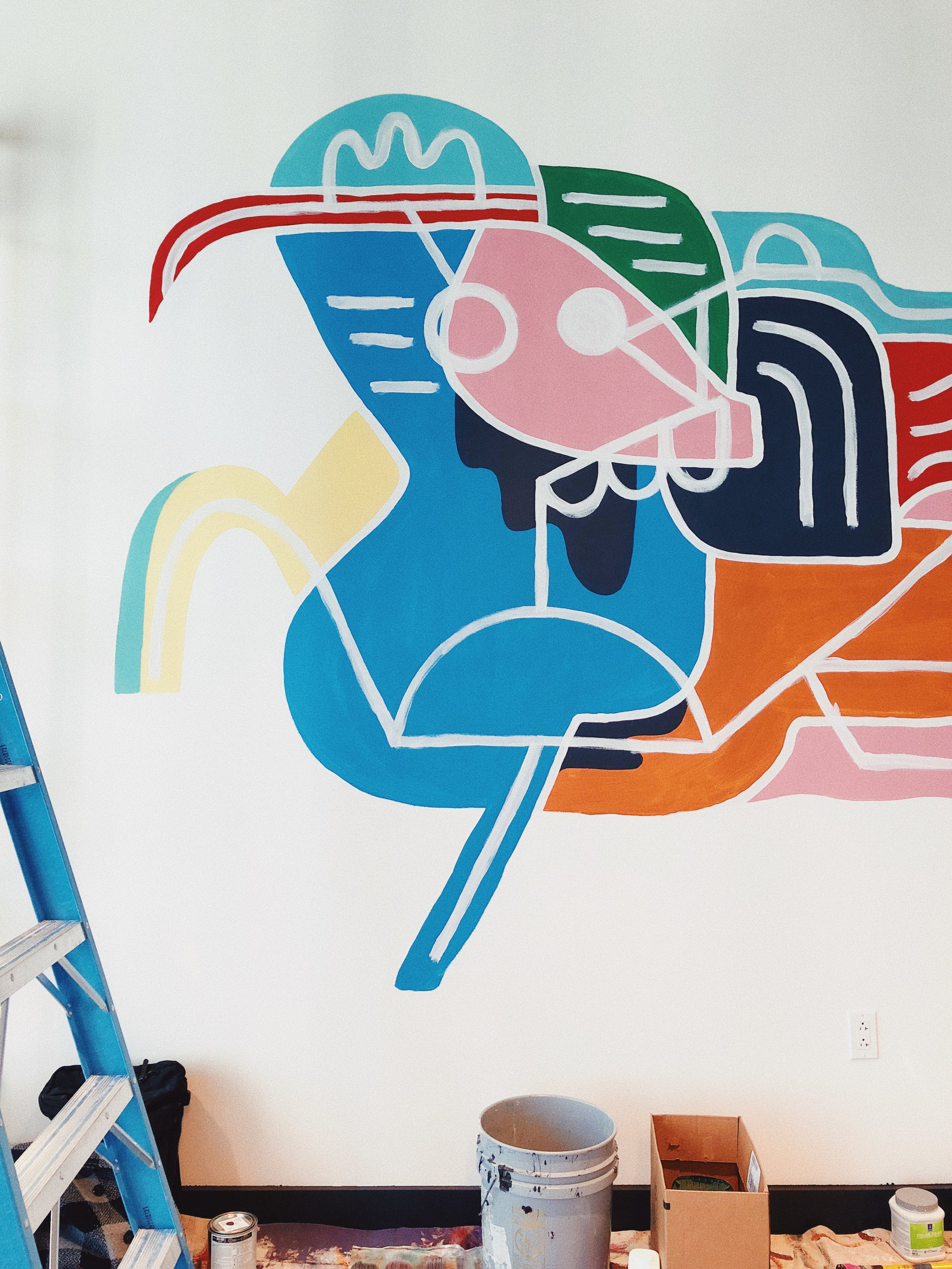 Mural Detail at WeWork by Kyle Steed