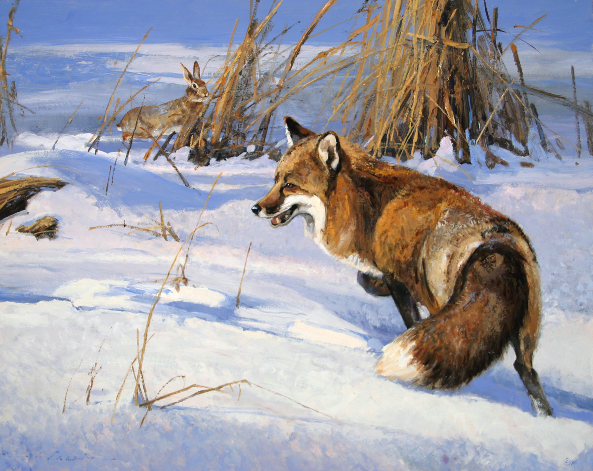 """Snow Tracker"" 24 x 30 Oil"