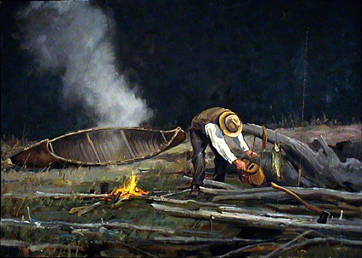 """Woodsmoke"" 24 x 36 Oil"