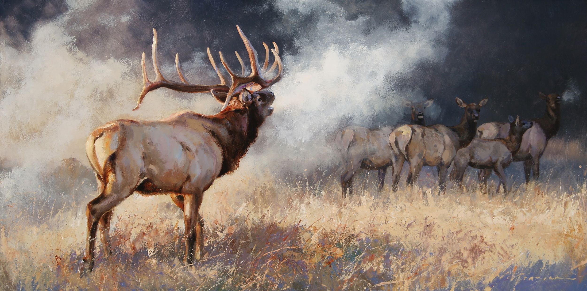 """""""Mists of the Madison"""" 18 x 36 Oil"""