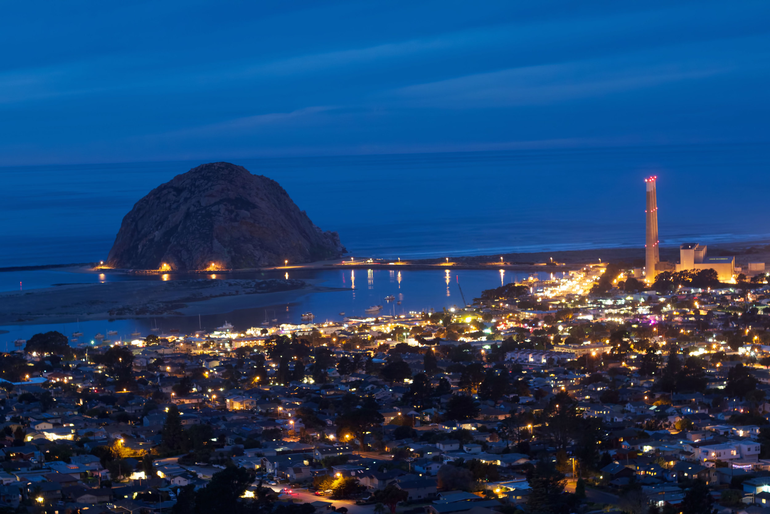Nightscape of Morro Bay, CA by Chad Lloyd