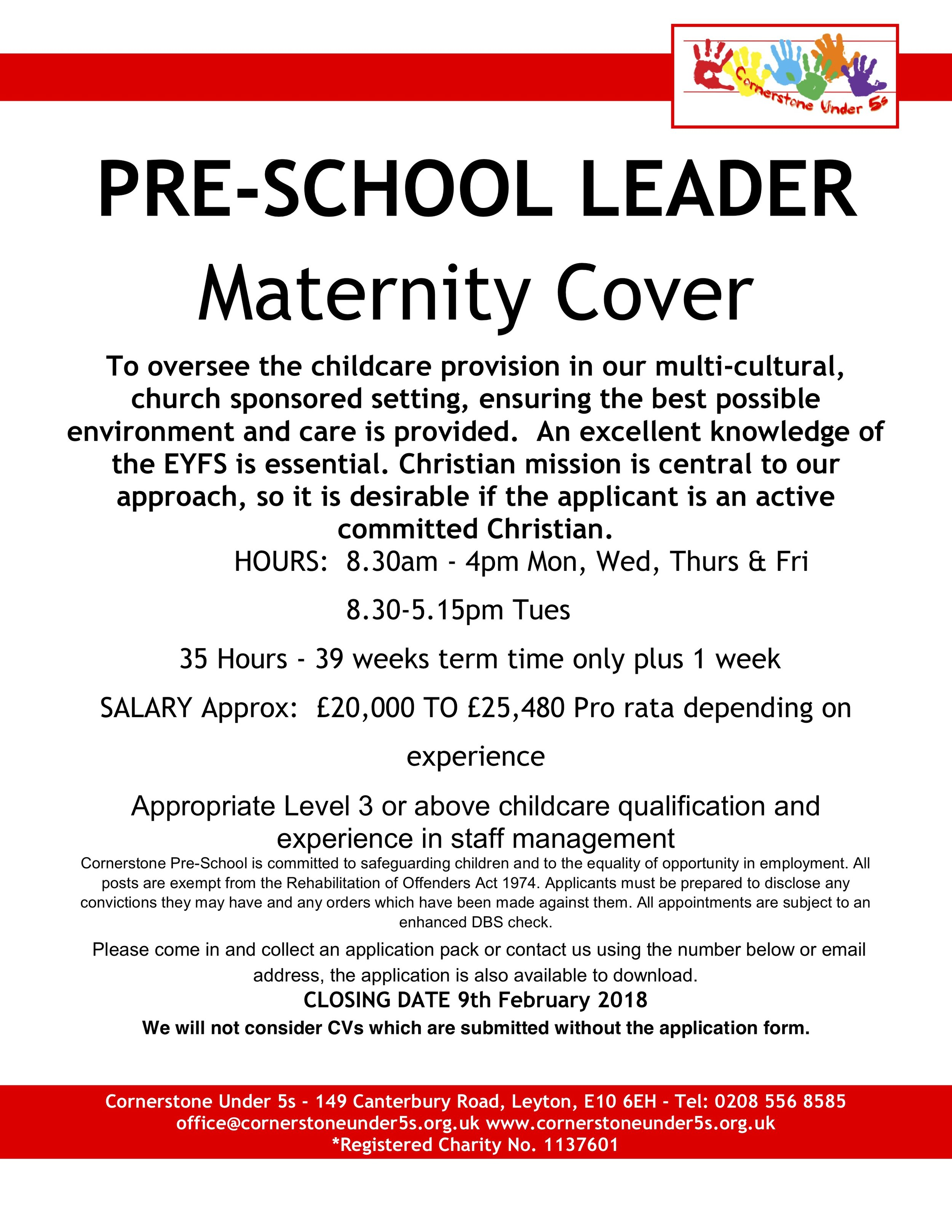 Maternity cover job vacancy 9.1.18.jpg