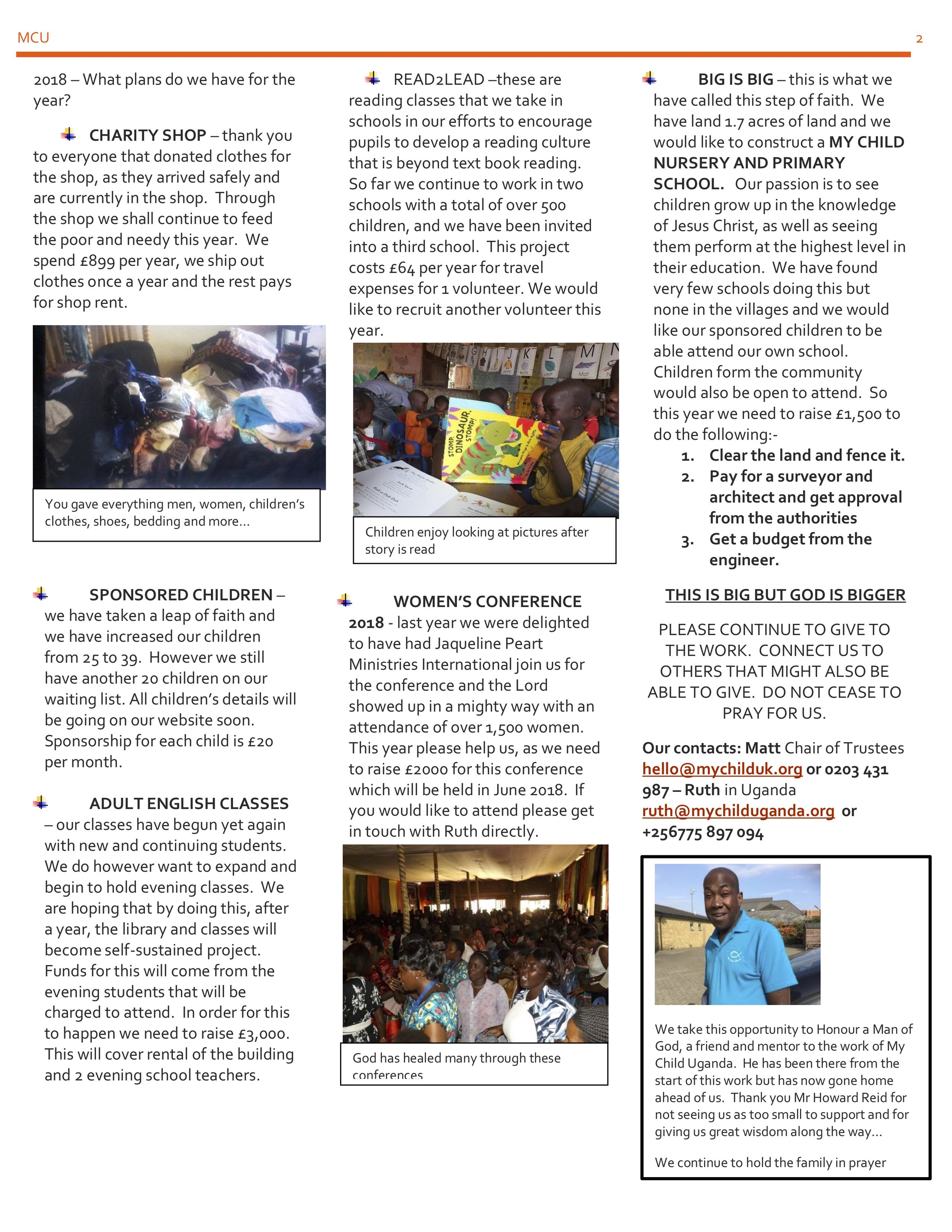 MCU Newsletter March 2018 Pt2