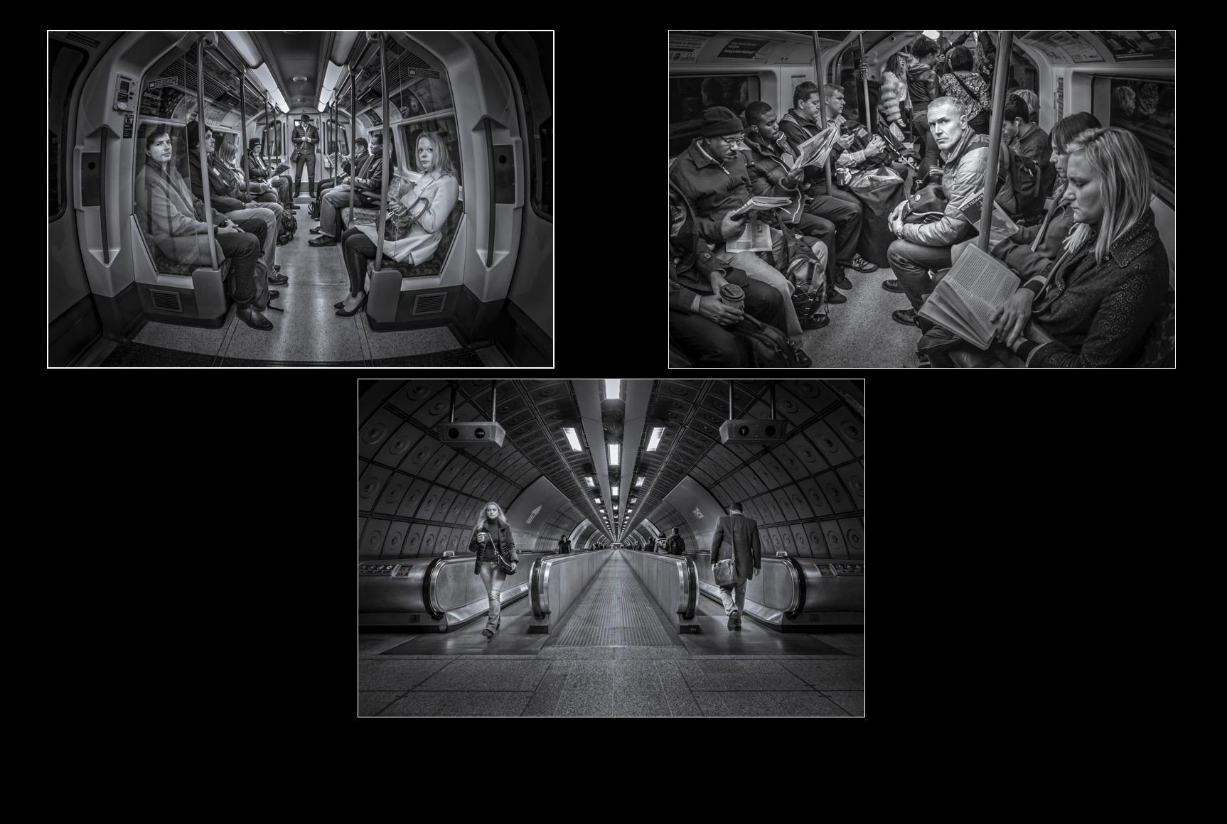 Tube Travellers - Judges Award- Monochrome Print