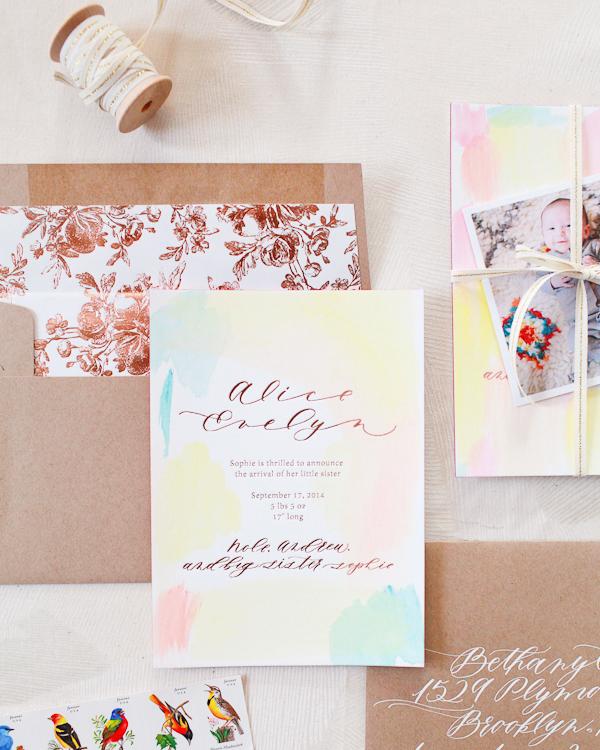 Hand-Painted-Rose-Gold-Foil-Birth-Announcements-Mon-Voir-Calligraphy-Bella-Figura-OSBP-200.jpg