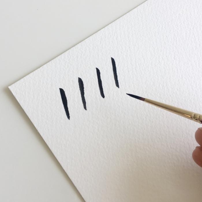 Brush Lettering - Downstrokes