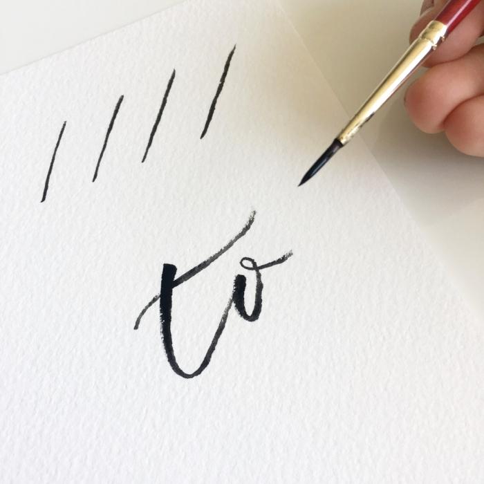 Brush Lettering - Crossbar