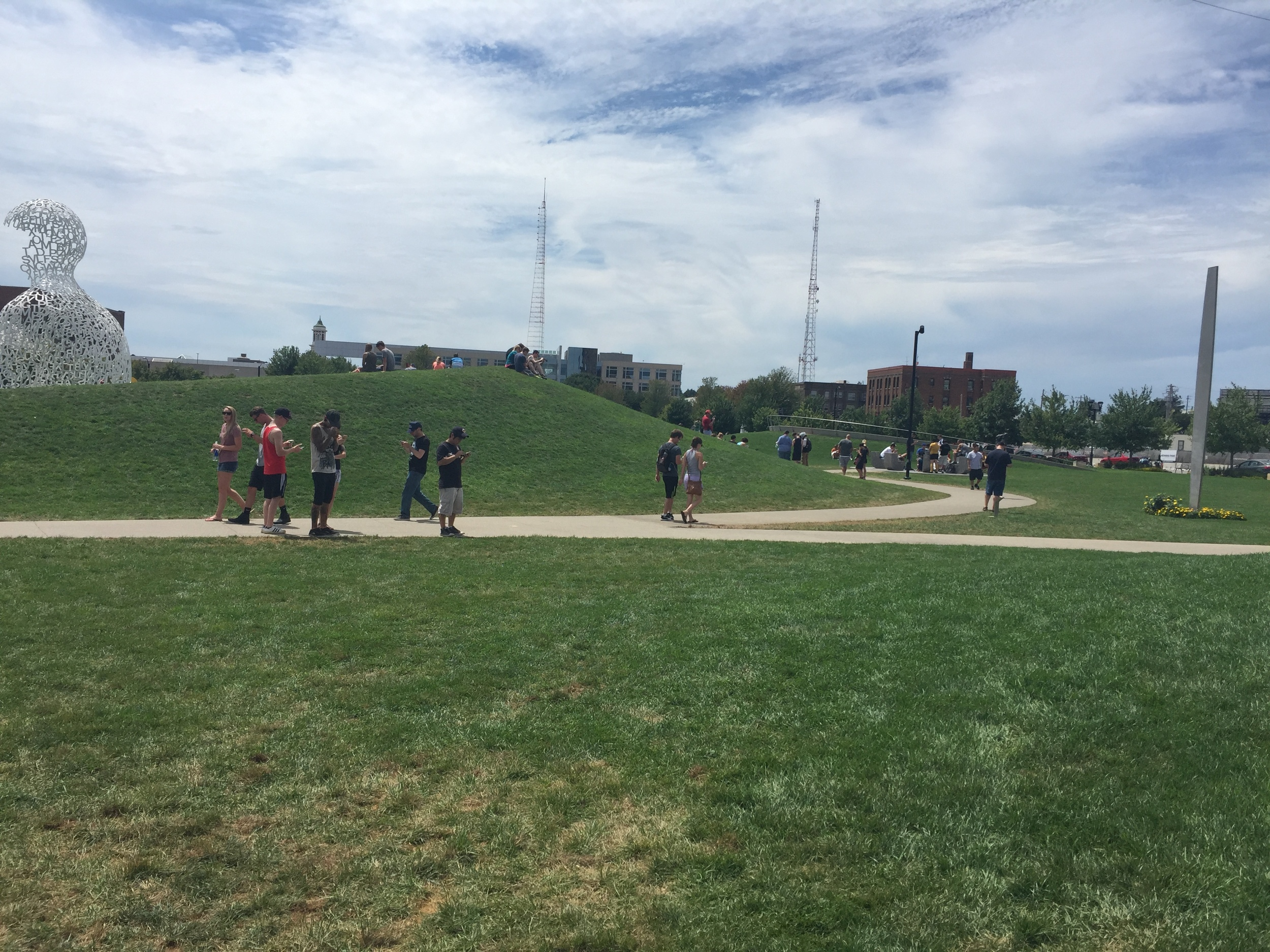 Pokemon Go sure brought the crowds to this park!