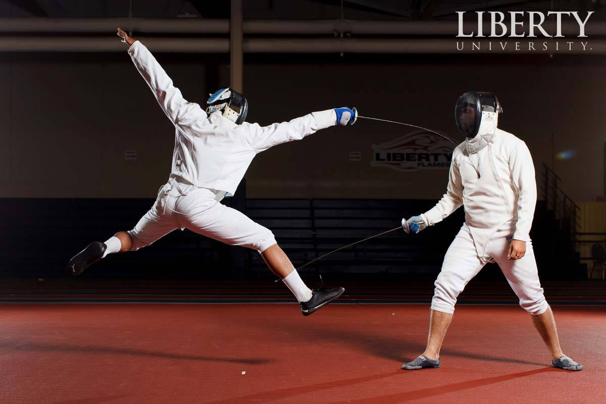 We will have  10-15 members from the LU fencing team.