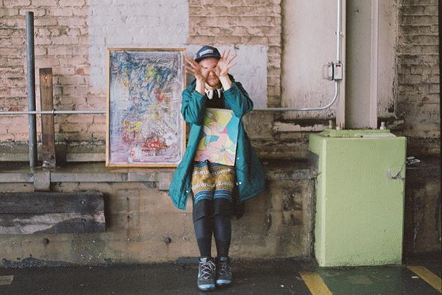 """Jeremiah transitioned from formalwear into street clothes, and then into something more representative of his true self: a Lebanese thwab, chalked-up Nike's he wore during high school basketball days, a baseball cap and a hooded green bubble parka. He could have just as easily looked like a cross-dressing hobo, but the outfit felt cohesive and natural for him. He pulled some recent artwork out of his car, a sharpie from his pocket and inscribed the number ""3"" on each palm. ..."" // Link in profile // #back #filmphotography #filmisnotdead #numerology #photooftheday #picoftheday #thwab #virginia #makeartnotwar #vscocam #singer #mystic"