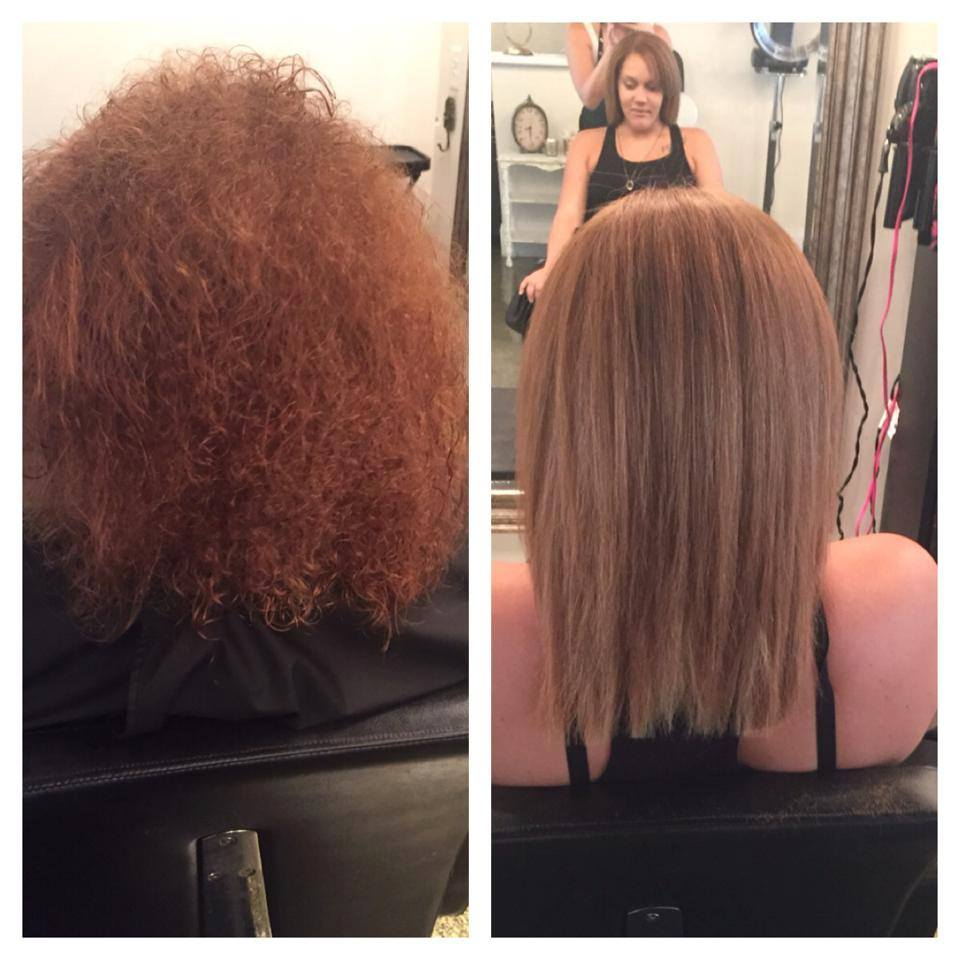 AmberBefore & After The Keratin Complex Treatment Yesterday In Our Mt Pleasant Salon