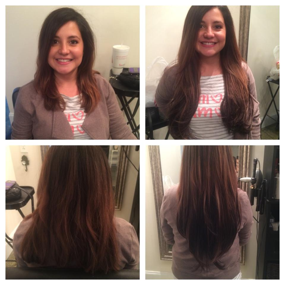 One of our Mt. Pleasant clients loving her new long look!