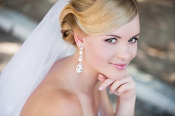 24420554 - beautiful bride outdoors - soft focus
