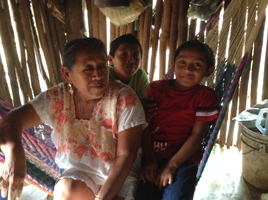 Here Francisca is pictured on her hammock with her grandsons. Notice the hammock that she made. The Mayans use these beautifully woven hammocks as chairs, couches and beds! More to come about a great opportunity for those hammocks very soon!