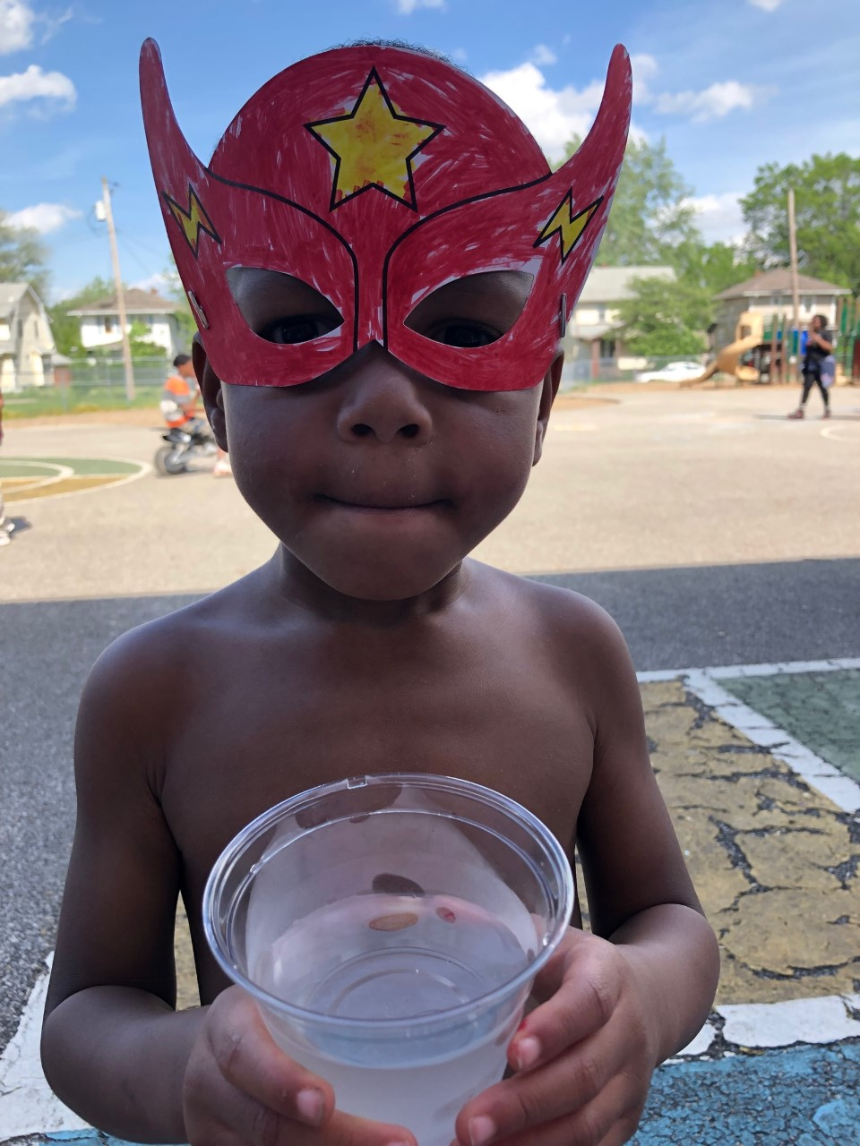 This young man created his very own superhero mask at one of four pre-VBS carnivals held at local elementary schools in Akron.  Superhero City: Unleashing Your Amazing!  taught children about their unique design as God's workmanship, and the ways He works in each of us to spread His love and hope!