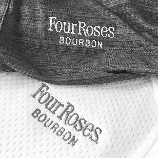 Prepping for some product photography. Spending my morning ironing @fourrosesbourbon apparel so it looks just right!