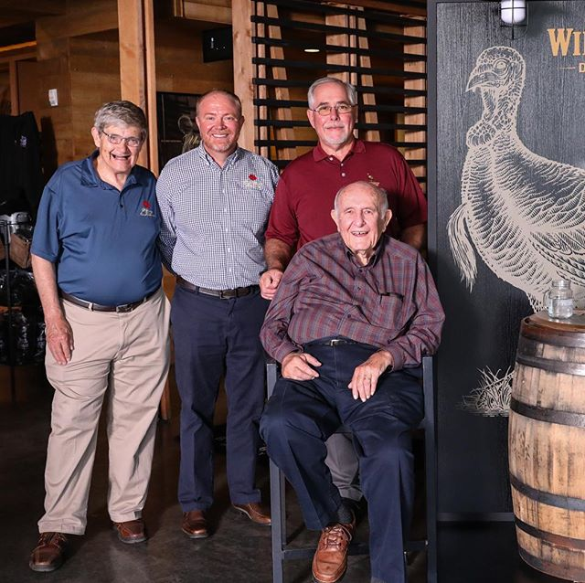 Check out the bourbon knowledge in this photo! #wildtukey #fourrosesbourbon