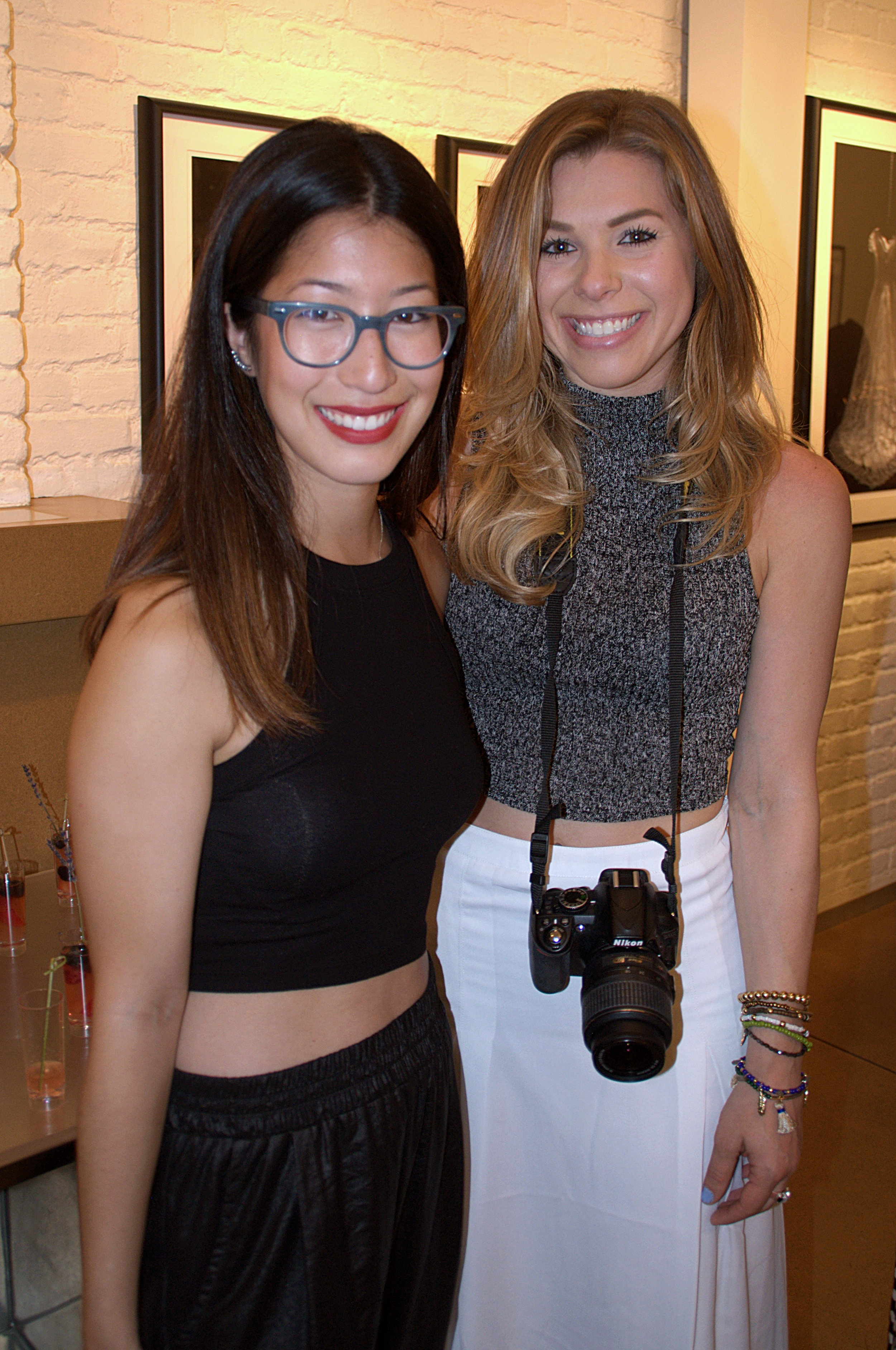 Blogger Katie Miller (@thektmiller) and guest  take a chance to take snaps of their own of the MTJF Collection.