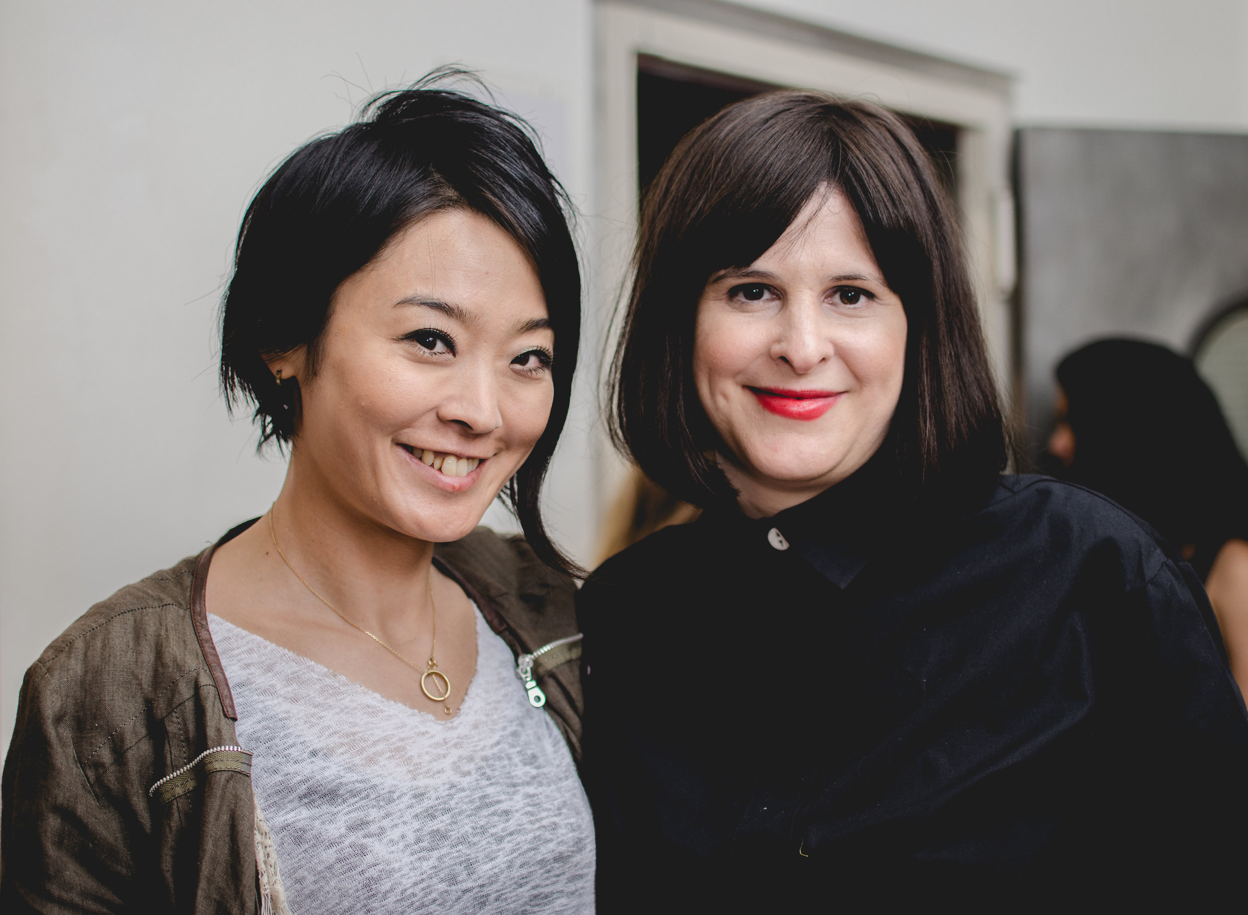 Our talented makeup artist Akiyo Koyama; who made our models look amazing, poses with MTJF designer Eve.