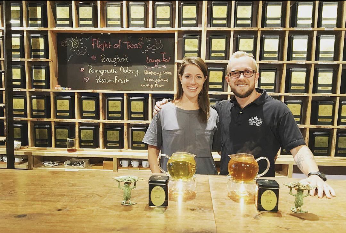 Harney & Sons' Emeric Harney with CatSpring Yaupon co-founder, Abianne Falla.  Photo compliments of Harney & Sons