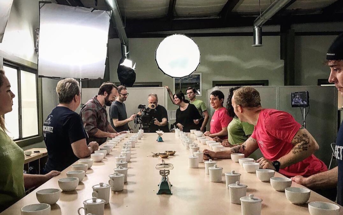 Harney & Sons employees brewing up new batches of tea.  Photo compliments of Harney & Sons