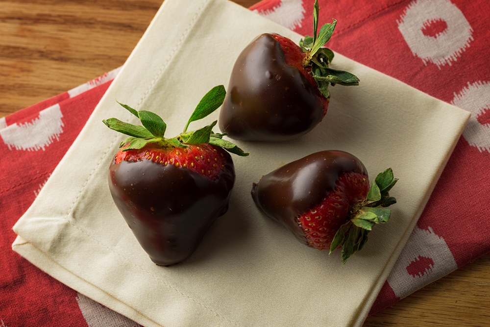 Strawberries dipped and decadent with canna-chocolate - FEB 12, 2014