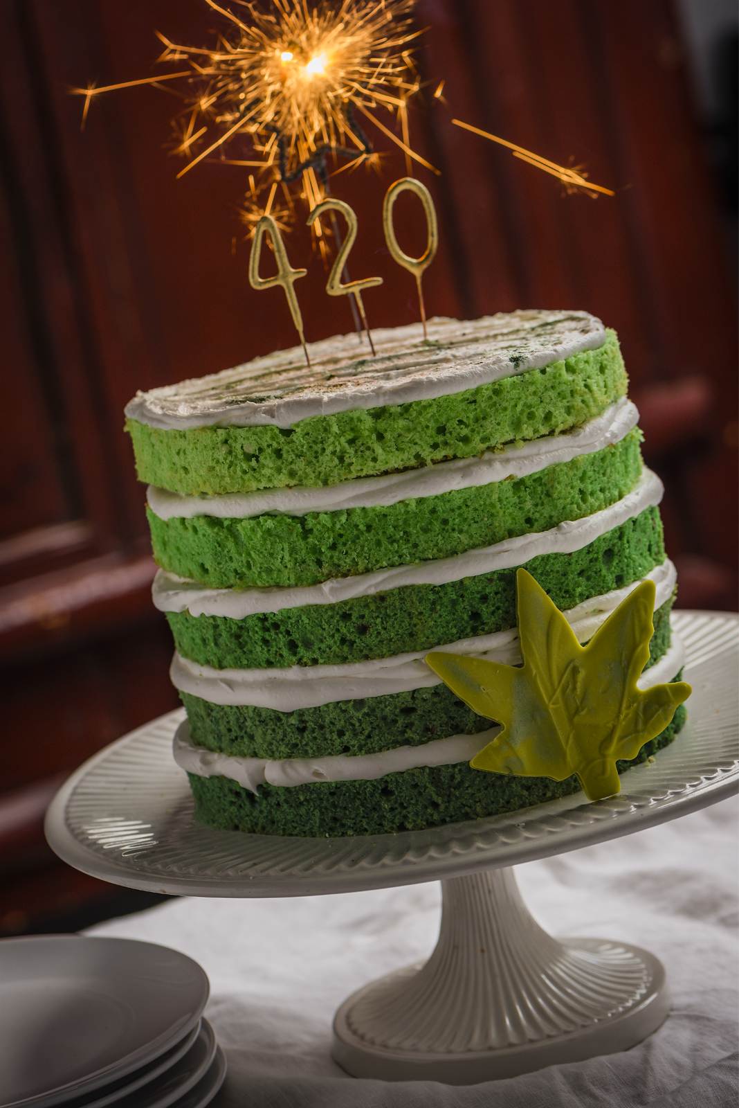 4/20 Five-Layer Green Velvet Cake Recipe - April 13, 2018