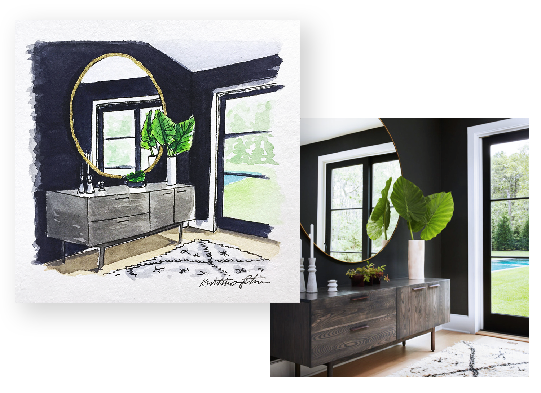 Moody Interiors - Tall, dark, and stylish.