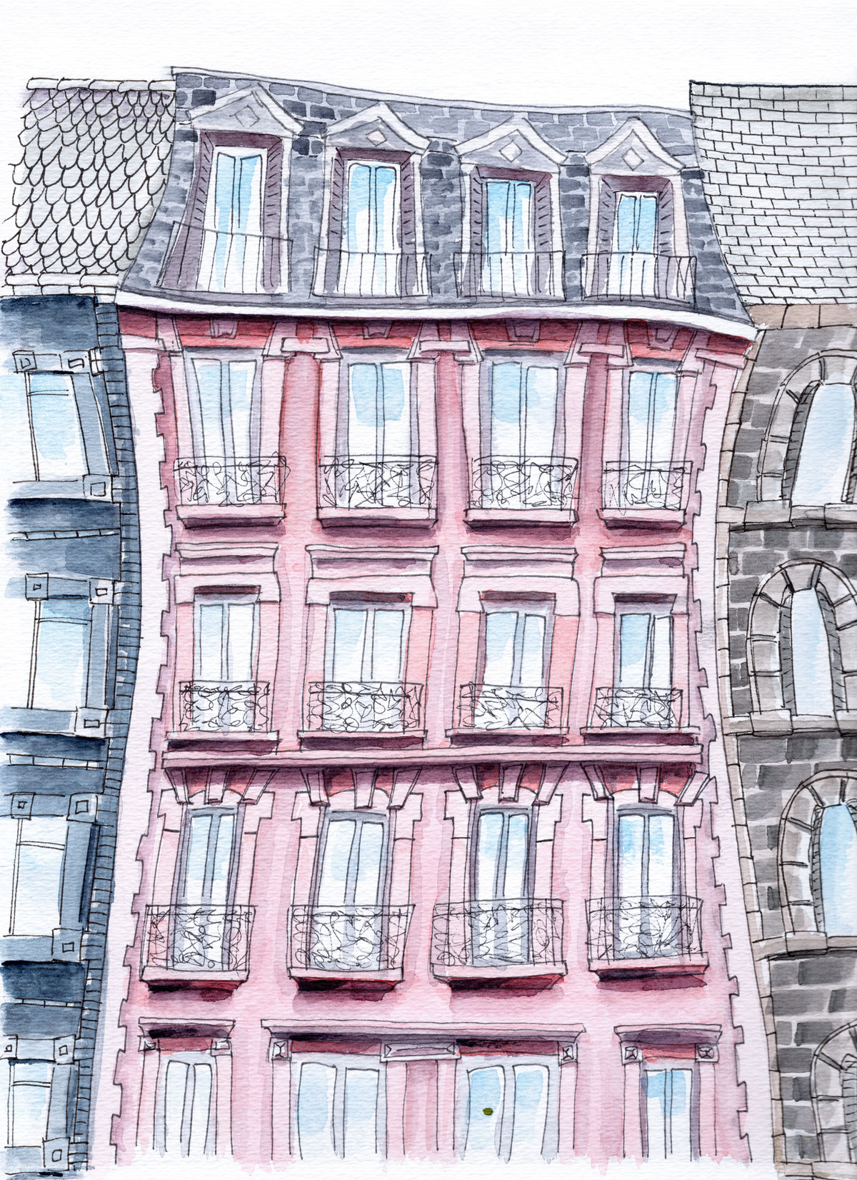 Where balconies tell love stories. - TRAVEL | PARIS, FRANCEA whimsical façade in the city of Love.