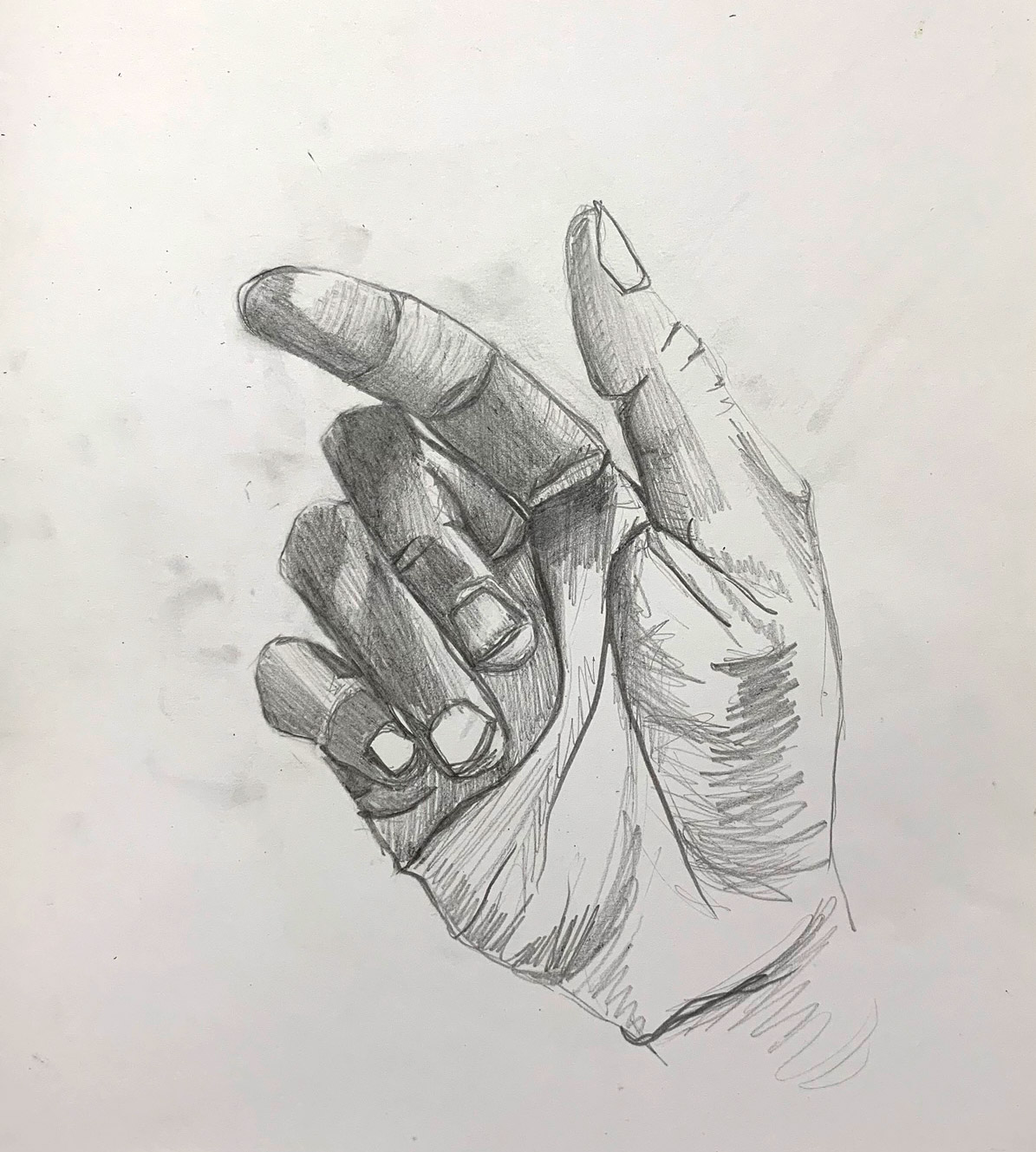 HAND,  2017 .  Pencil.