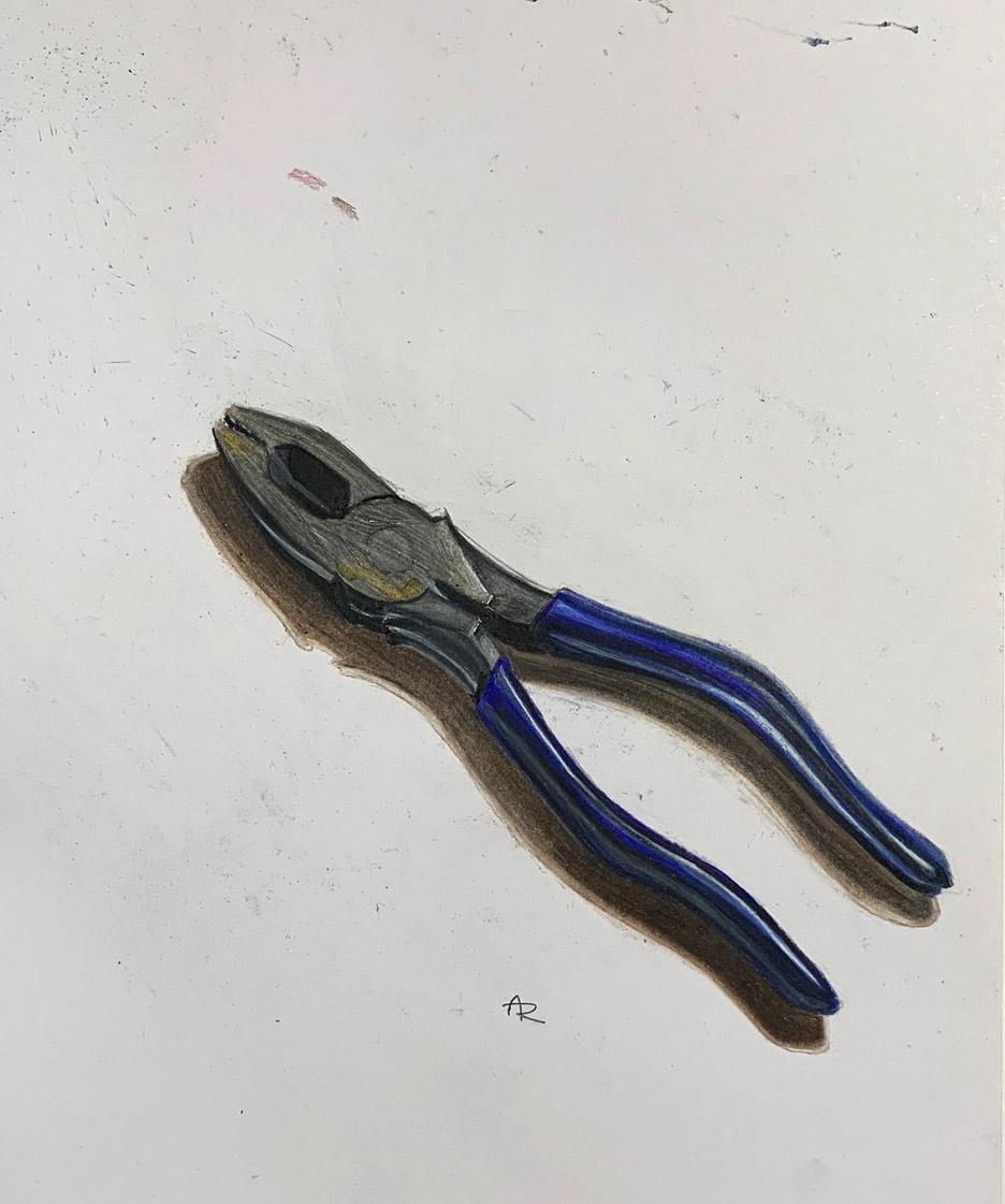 PLIERS , 2017. Colored pencils.