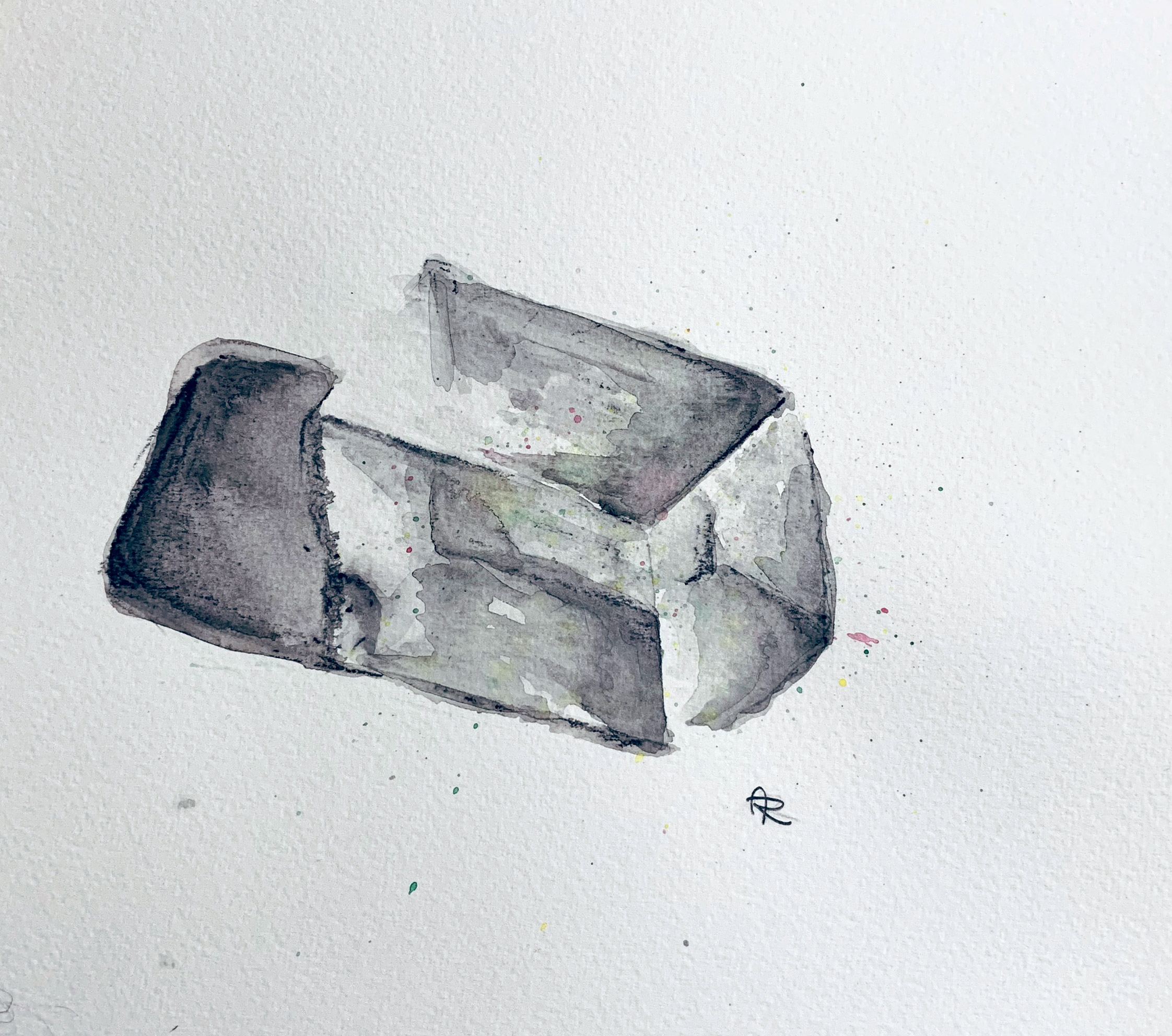 QUARTZ , 2018. Watercolor pencils.