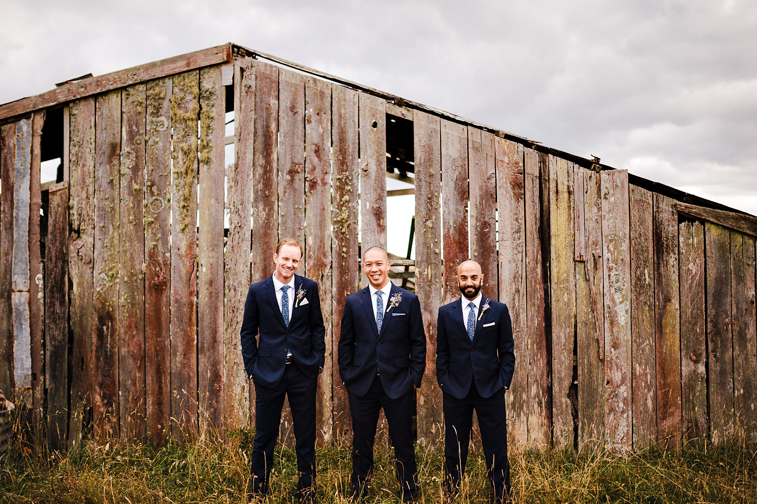 Groomsmen in front of shed.jpg