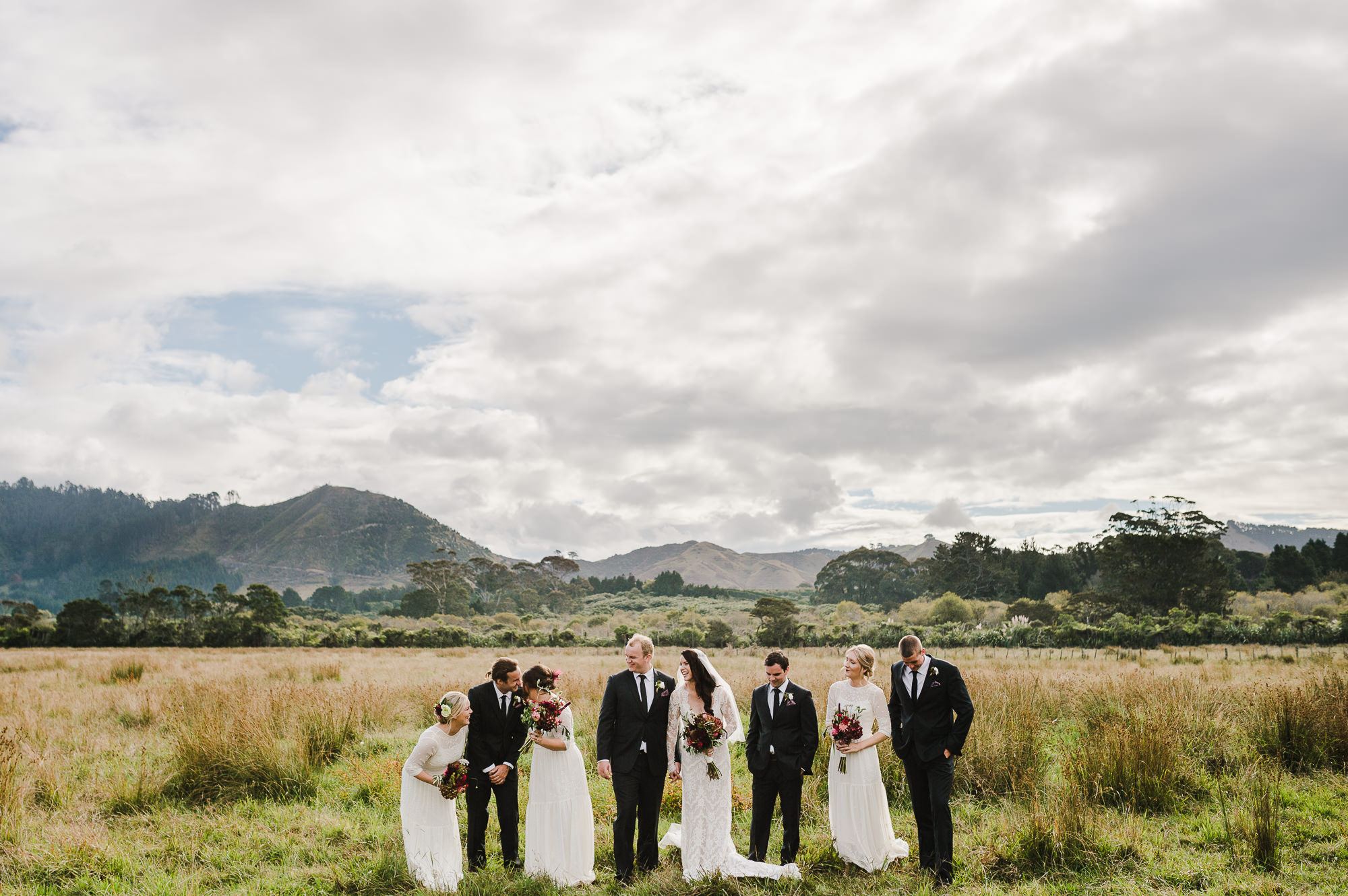 bridal party in waihi field moutains.jpg