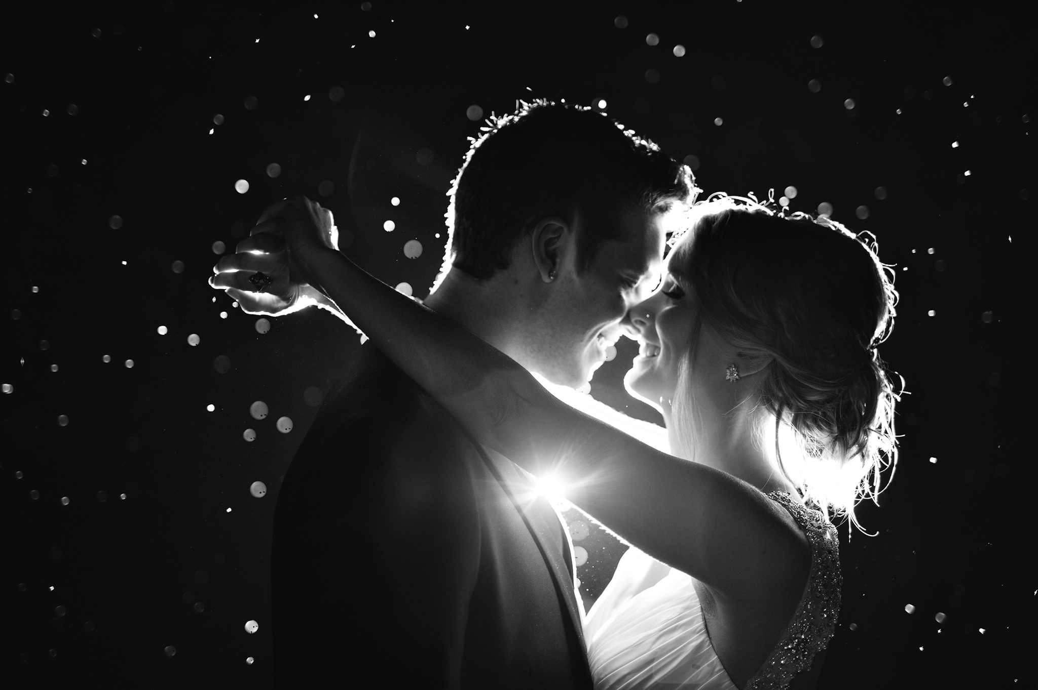 28 backlit rain shot delicate portrait auckland wedding photography.JPG