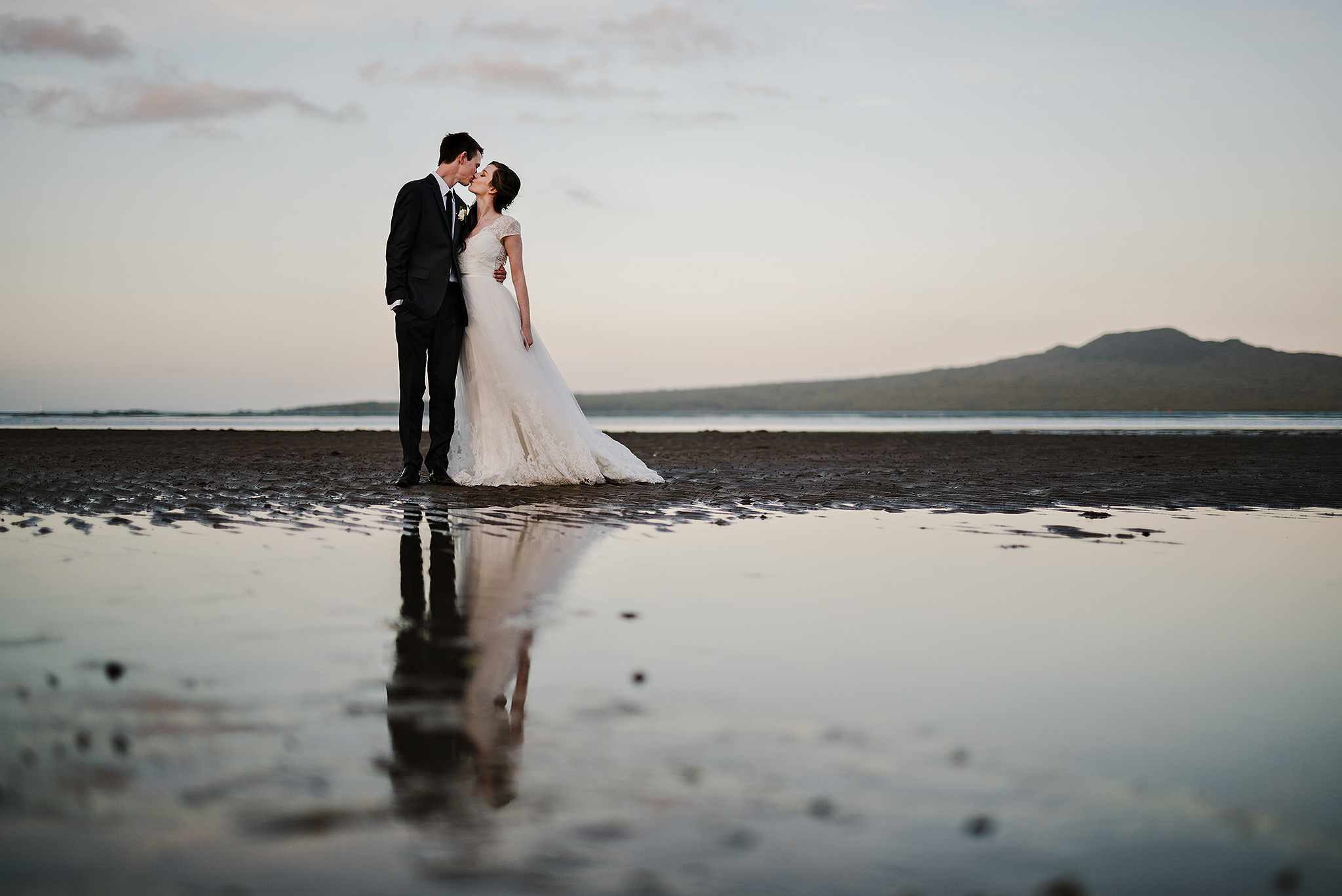 56 north shore wedding rangitoto in background sunset.JPG